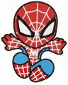 Chibi Spiderman attacks embroidery design