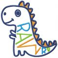 Cute dino rawrr free embroidery design
