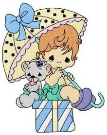 Sunny day machine embroidery design