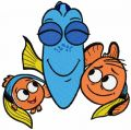 Nemo Marlin Dory 2 embroidery design