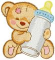 Favorite baby bottle embroidery design