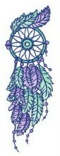 Blue and purple dreamcatcher
