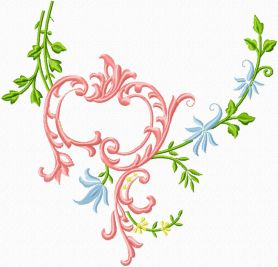 Blanket decoration free machine embroidery design