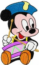 Mickey Mouse with a drum