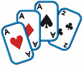 playing card free embroidery design