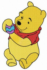Winnie Pooh with Easter egg