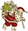 Santa Claus with presents embroidery design