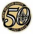 New Orleans Saints 50th anniversary embroidery design