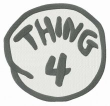 Thing 4 round badge