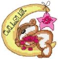 Teddy sleep embroidery design