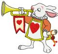 Rabbit trumpeter embroidery design
