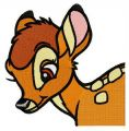 Mule deer Bambi embroidery design