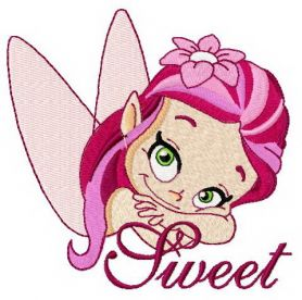 Sweet fairy 3 machine embroidery design