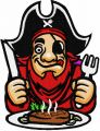 Hungry pirate embroidery design