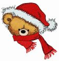 Christmas teddy bear 9 embroidery design