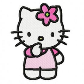 Hello Kitty I think machine embroidery design