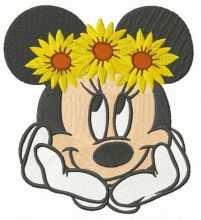 Minnie with flower wreath