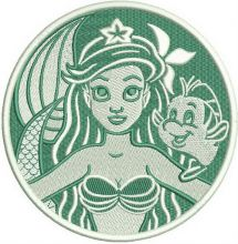 Ariel and Flounder badge