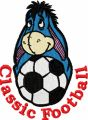 Eeyore Classic Football Logo  embroidery design