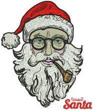 Santa with tobacco pipe