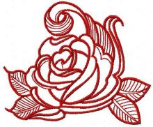 Red swirl rose