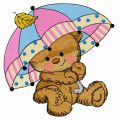 Teddy's rainy day 2 embroidery design