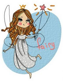Charming fairy 2 machine embroidery design