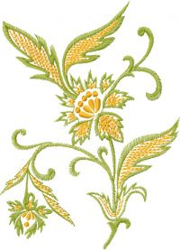 Retro flower free embroidery design