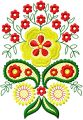 Flowers Decor Element 2  embroidery design