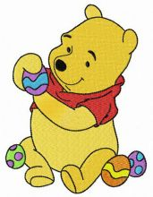 Pooh preparing for Easter