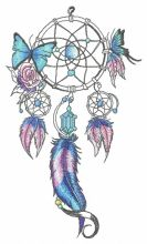 Dreamcatcher with two butterflies