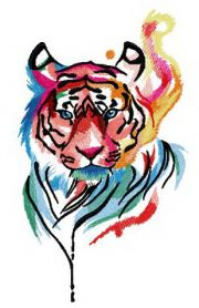 Tiger in my mind machine embroidery design