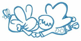 Cute little fairy 15 machine embroidery design