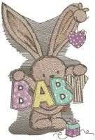 Baby bunny toy for newborn