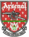Arsenal logo embroidery design