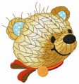 Knitted bear head embroidery design