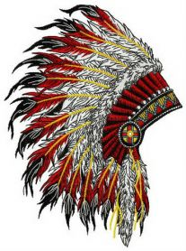 Nice warbonnet machine embroidery design