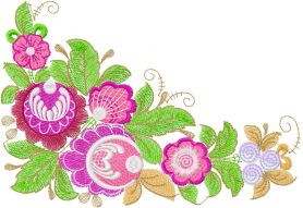 Flower decoration free embroidery design 24