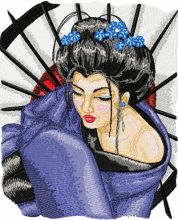Geisha with Umbrella 2