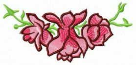 Composition with buds machine embroidery design