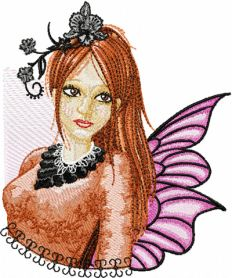 Modern Fairy 5 machine embroidery design