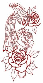 Tamed eagle 2 machine embroidery design