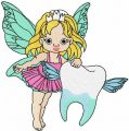 Tooth fairy 4 embroidery design