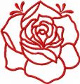 Pink rose free embroidery design 20