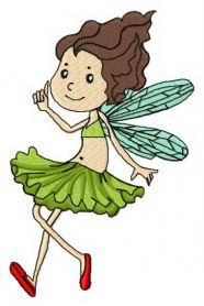 Grass fairy machine embroidery design