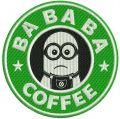 Bababa coffee embroidery design