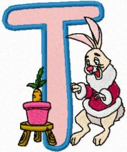 Rabbit Alphabet Letter T