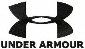 Under Armour logo machine embroidery design