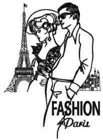 French fashion 2 machine embroidery design