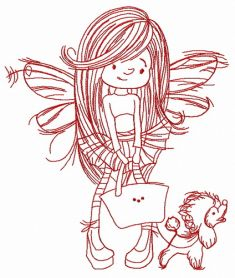 Shopping fairy 3 machine embroidery design